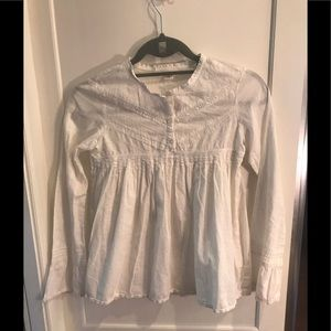 Gap white peasant blouse